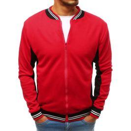 BASIC Červená pánská rozepínací bunda bez kapuce (bx3936) Velikost: M