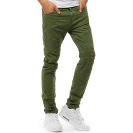 BASIC Pánské zelené kalhoty (ux1894) Velikost: 29