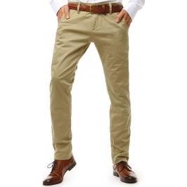 BASIC Pánské chinos kalhoty béžové (ux1905) Velikost: 29