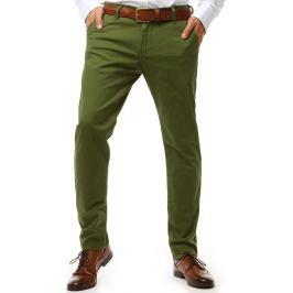BASIC Pánské chinos kalhoty zelené (ux1906) Velikost: 29