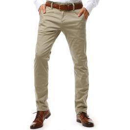 BASIC Pánské chinos kalhoty béžové (ux1908) Velikost: 29
