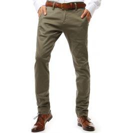 BASIC Pánské chinos kalhoty tmavě béžové (ux1915) Velikost: 29