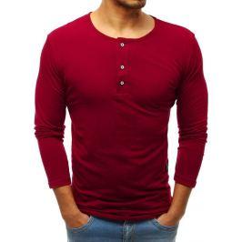 BASIC Pánské tričko bordové (lx0489) Velikost: M