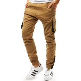 BASIC Pánské kalhoty jogger karamelové (ux1919) Velikost: M