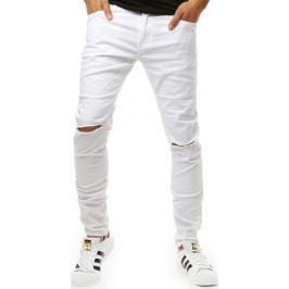 BASIC Bílé pánské džíny (ux1926) Velikost: 28