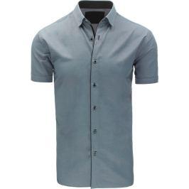 BASIC Elegantní šedá košile (kx0748) Velikost: M