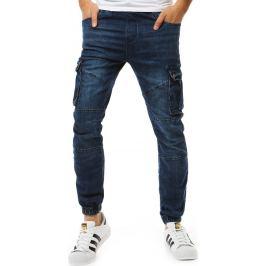 BASIC Pánské kalhoty jogger denim look (ux1892) Velikost: 29