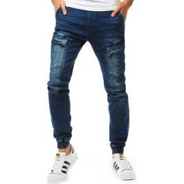 BASIC Pánské kalhoty jogger denim look (ux1893) Velikost: 29
