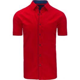 BASIC Červená elegantní košile (kx0776) Velikost: M