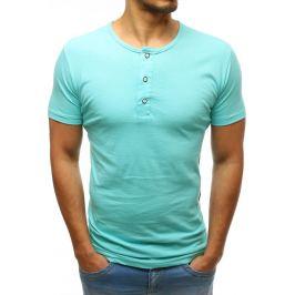 BASIC Pánské tričko bez potisku mentolové (rx3456) Velikost: M