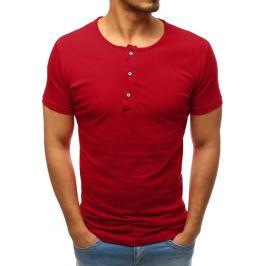 BASIC Pánské tričko bez potisku bordó (rx3457) Velikost: M