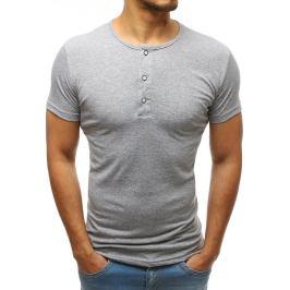 BASIC Pánské tričko bez potisku světle šedé (rx3464) Velikost: M