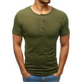 BASIC Pánské tričko bez potisku zelené (rx3459) Velikost: M