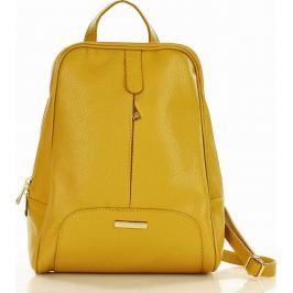 MAZZINI Hořčicový kožený batoh (pl30i) Velikost: univerzální