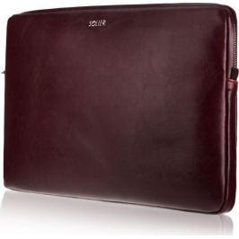 SOLIER Kožené vínové pouzdro pro notebook 15
