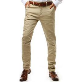 BASIC Pánské kalhoty světle béžové (ux1934) Velikost: 29