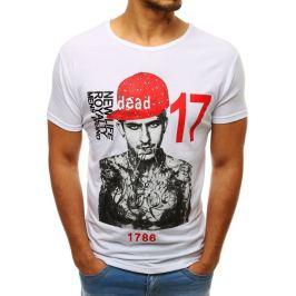 BASIC Bílé pánské tričko s potiskem (rx3513) Velikost: M