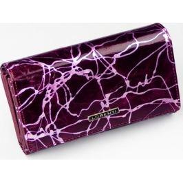 Lorenti fialová peněženka se vzory 76112-CV PURPLE Velikost: univerzální