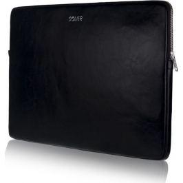 SOLIER Kožené černé pouzdro pro notebook 15