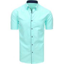 BASIC Pánská elegantní košile mátová (kx0895) Velikost: L