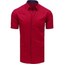 BASIC Pánská elegantní košile bordó (kx0896) Velikost: M