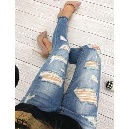 BASIC Dámské modré džíny (uy0086) Velikost: 31