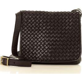 Černá kožená crossbody kabelka MARCO MAZZINI (v4a) Velikost: univerzální