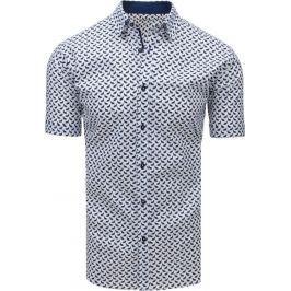 BASIC Bílá košile se vzorem (kx0903) Velikost: M