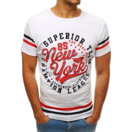 BASIC Bílé tričko NEW YORK (rx3519) Velikost: S