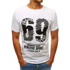 BASIC Bílé tričko s nápisem 69 (rx3524) Velikost: S