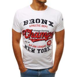 BASIC Bílé tričko BRONX (rx3531) Velikost: S