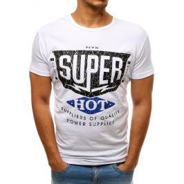 BASIC Bílé tričko s potiskem SUPER  (rx3520) Velikost: S