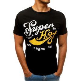 BASIC Černé tričko s potiskem SUPER (rx3543) Velikost: M