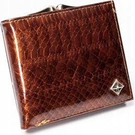 4U CAVALDI MILANO DESIGN stylová hnědá peněženka SF-1814 SK BROWN Velikost: univerzální