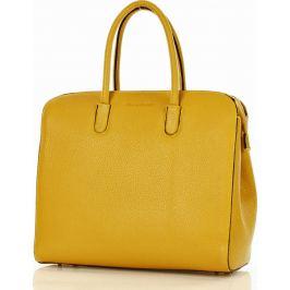 Žlutá kožená business kabelka MAZZINI  (381d) Velikost: univerzální