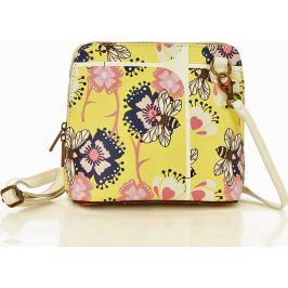Žlutá crossbody kabelka MAZZINI s květy - Foggia Lux žlutá prato (l20xx) Velikost: univerzální