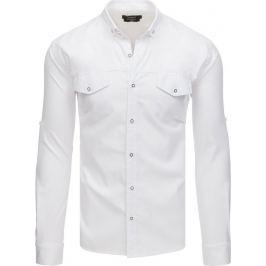 Bílá basic košile (dx1753) Velikost: M