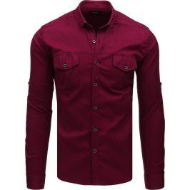 Bordó basic košile (dx1754) Velikost: M