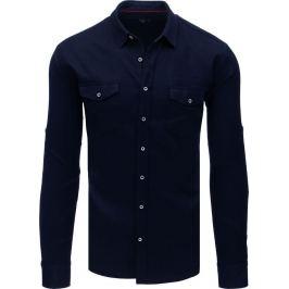 BASIC Granátově modrá košile (dx1757) Velikost: M