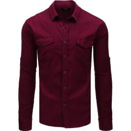 BASIC Bordó košile (dx1758) Velikost: M