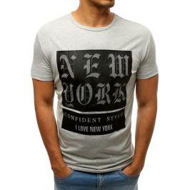 BASIC Pánské tričko NY - šedá (rx3156) Velikost: S