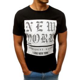 BASIC Pánské tričko NY - černá (rx3157) Velikost: S