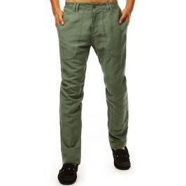 BASIC Pánské casual kalhoty - zelená (ux1897) Velikost: 29