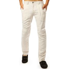 BASIC Pánské casual kalhoty - smetanová (ux1898) Velikost: 29
