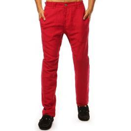 BASIC Pánské casual kalhoty - červená  (ux1899) Velikost: 29