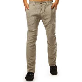 BASIC Pánské casual kalhoty - béžová (ux1900) Velikost: 29