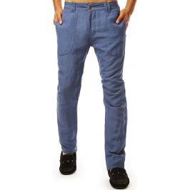 BASIC Pánské casual kalhoty - modrá (ux1901) Velikost: 29