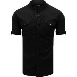 Basic košile s krátkým rukávem - černá (kx0919) Velikost: M