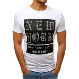 BASIC Bílé tričko New York (rx3155) Velikost: S