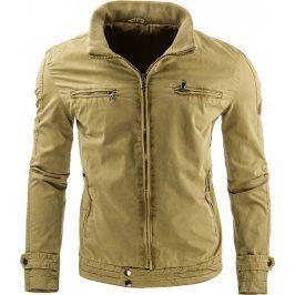 BASIC Jarní/podzimní khaki bunda (tx1178) velikost: 2XL, odstíny barev: zelená